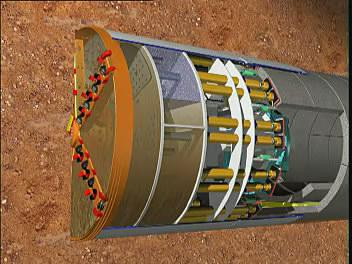 泥水式盾构机发展概况及工作原理